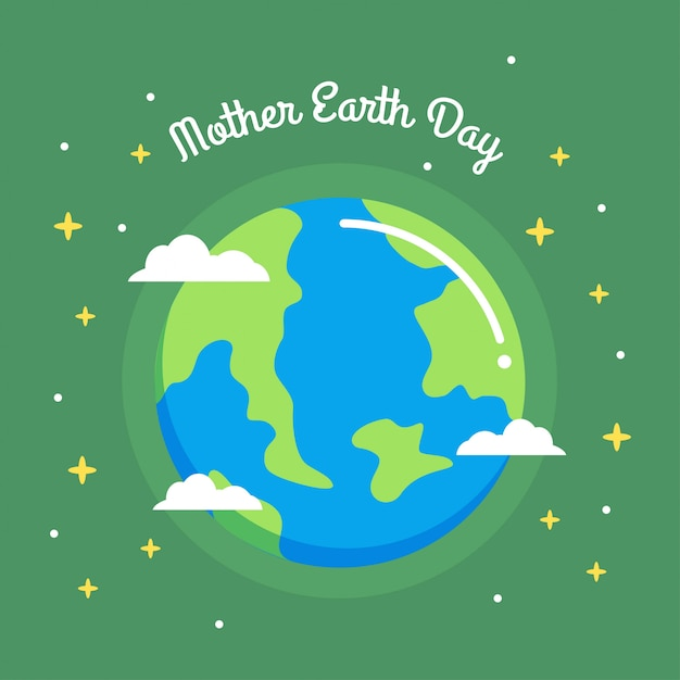 Mother earth day illustration Premium Vector