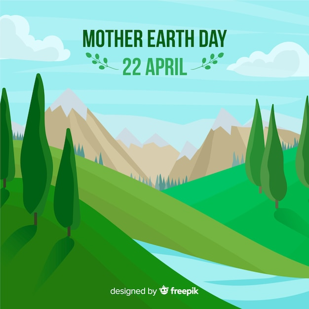 Mother earth day Free Vector