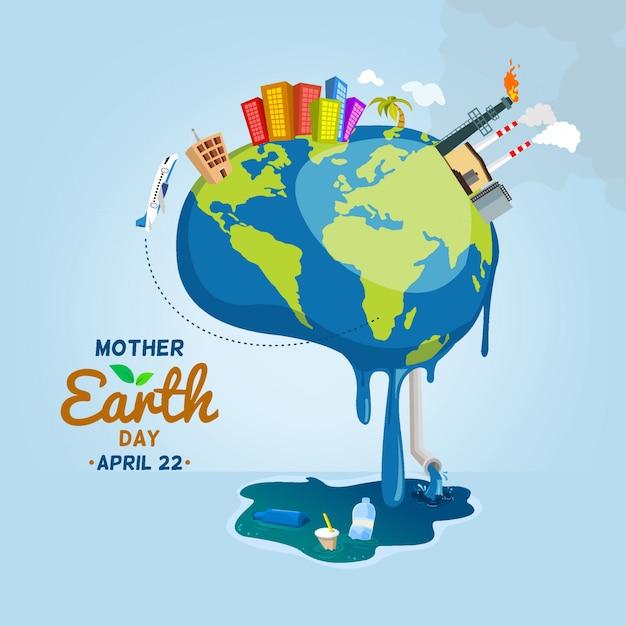 Mother earth is sick Premium Vector