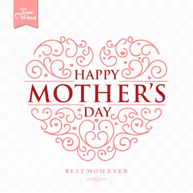 Mother's day background design Free Vector