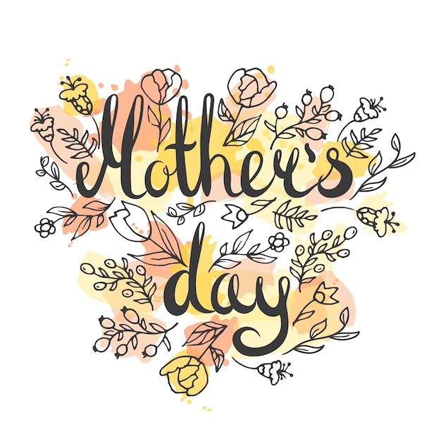 Mother\'s day background hand drawn