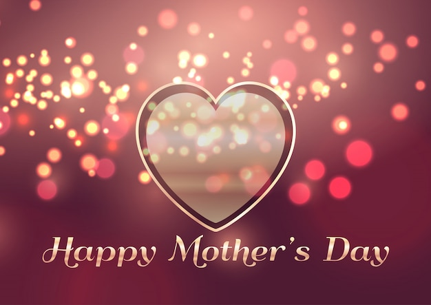 Mother's day background with heart design Premium Vector