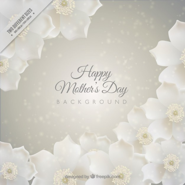 Mother\'s day background with white\ flowers