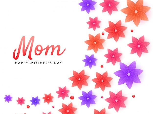 Mother's day background. Premium Vector
