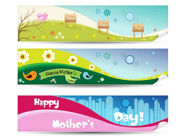 Mother\'s day banner collection