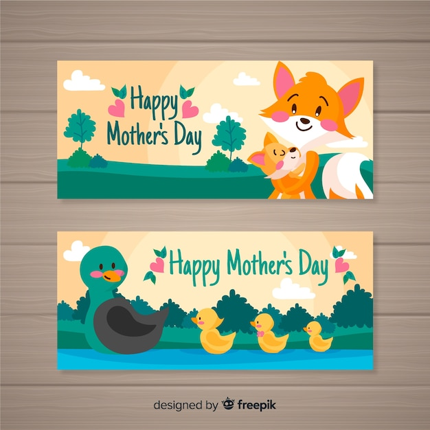 Mother's day banner Free Vector