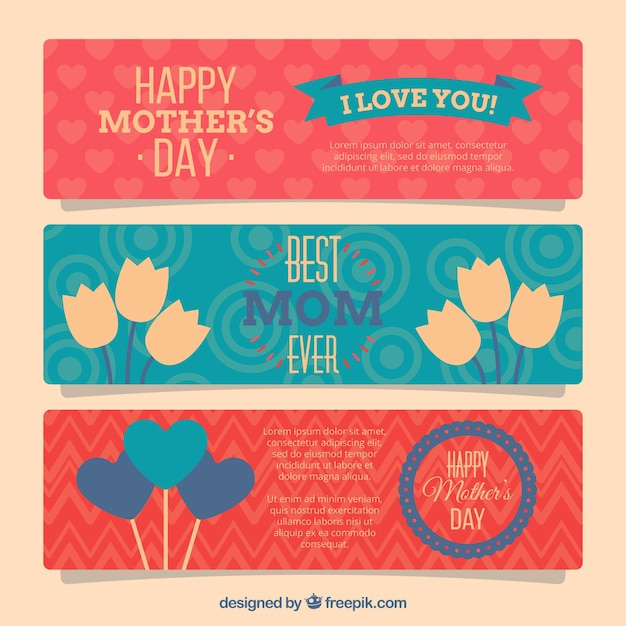 Mother\'s day banners designs