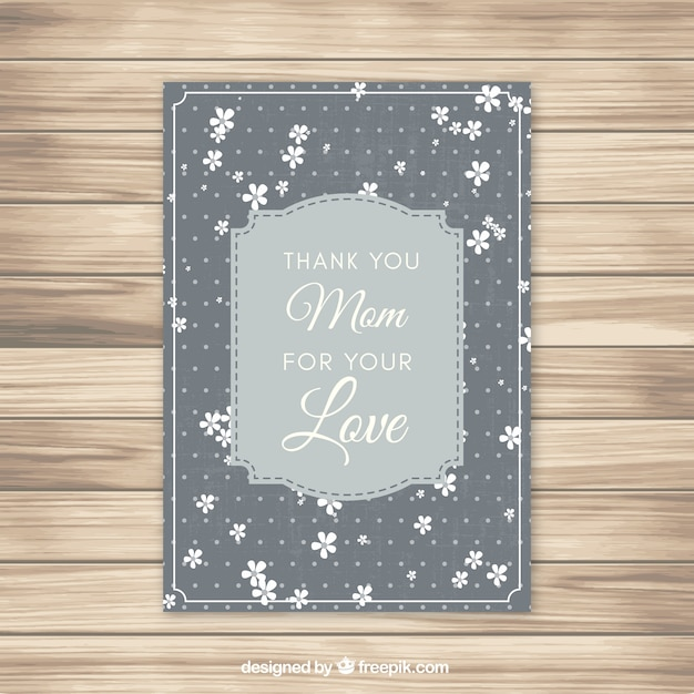 Mother\'s day card in vintage style