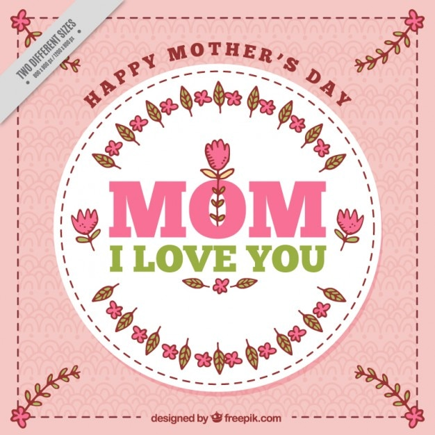 Mother\'s day card with a badge