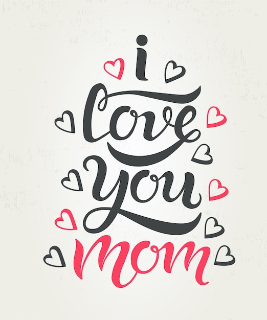 Mother's day card Premium Vector