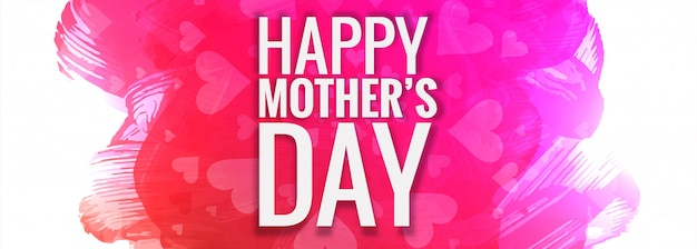 Mother's day colorful background Free Vector