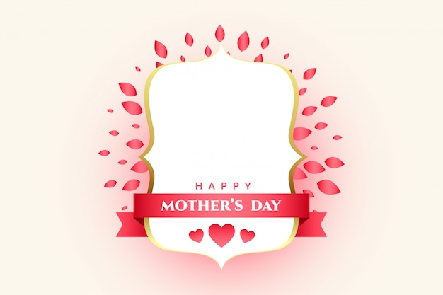 Mother's day decorative label with text space Free Vector