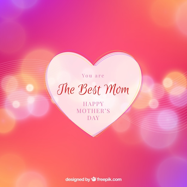 Mother\'s day defocused bokeh background