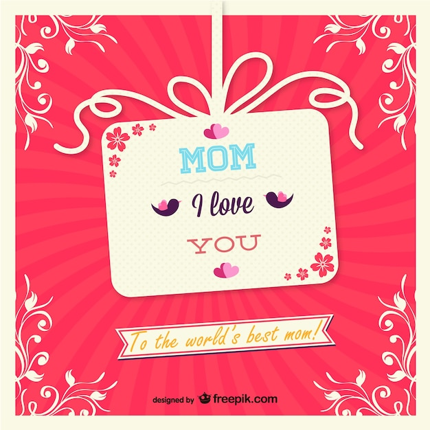 Mothers day gift card vector free download mothers day gift card free vector yadclub Choice Image