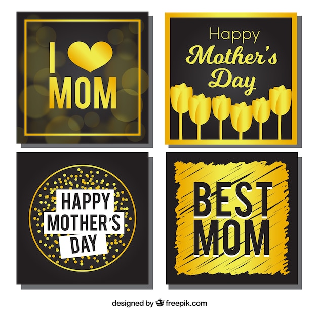 Mother\'s day golden card pack