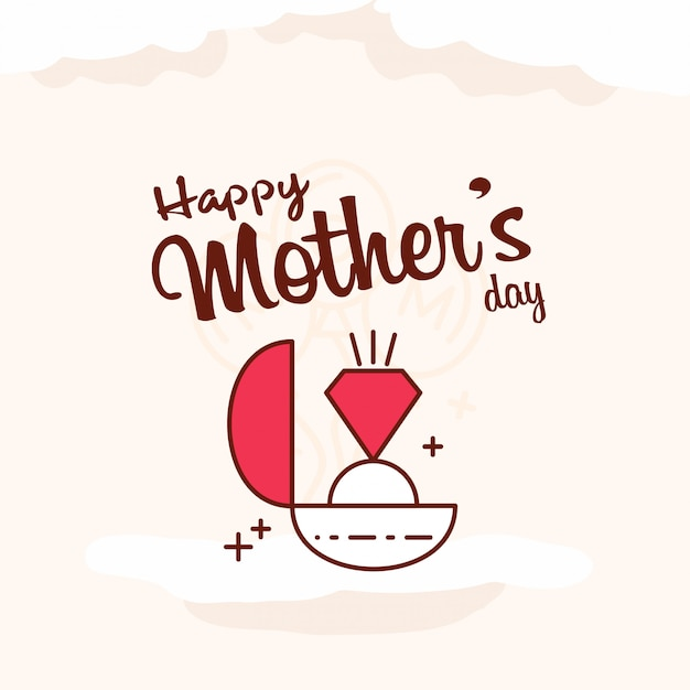 Mother\'s day greeting card Banner\ Background