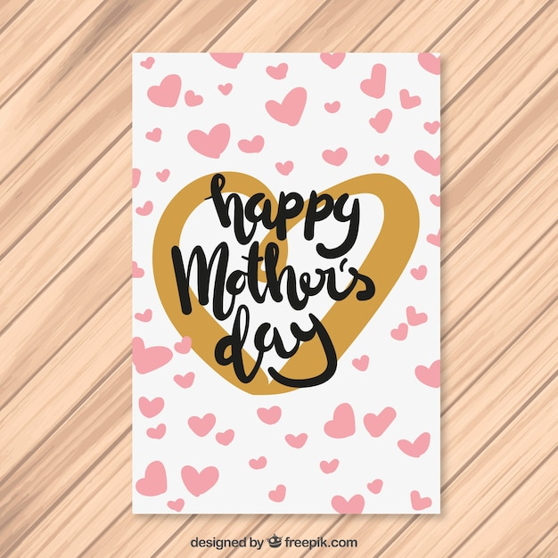 Mother\'s day hearts greeting card