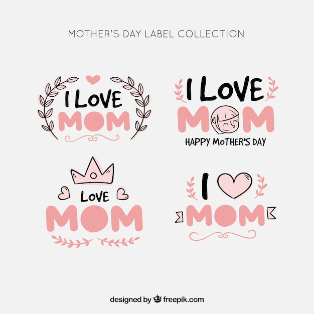 Mother\'s day label collection