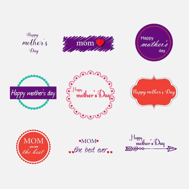 Mother\'s day labels collection