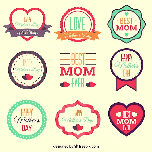 Mother\'s day labels designs