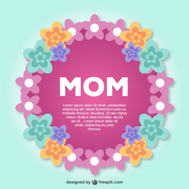 Mother's day lace postcard Free Vector