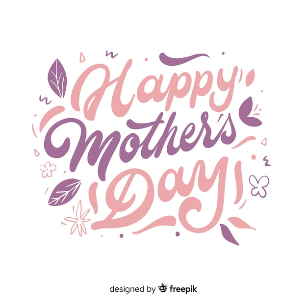 Mother's day lettering background Free Vector