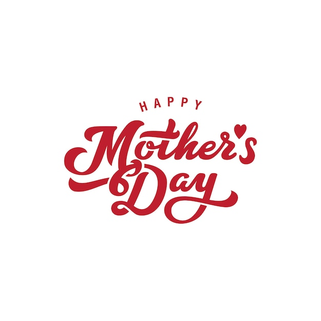 Mother's day logo  icon. Free Vector