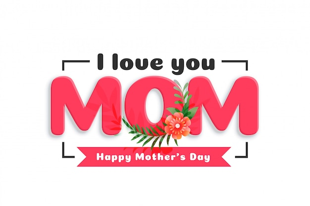 Mother's day love greeting background Free Vector
