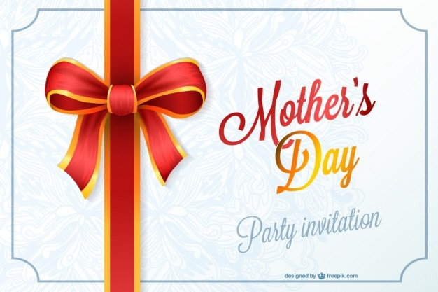 Mother's day party invitation Free Vector