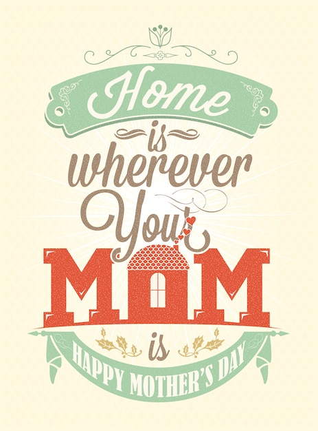 Mother\'s day poster design