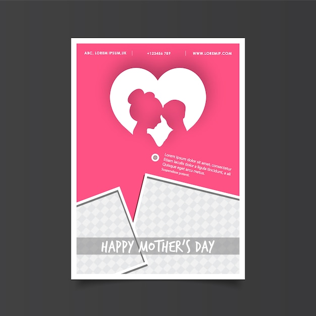 Mother\'s day poster with heart
