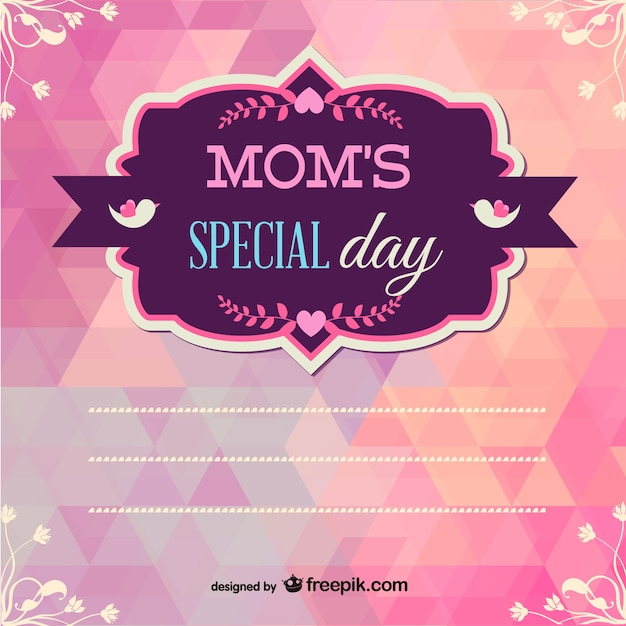 Mother's day printable geometric design Free Vector
