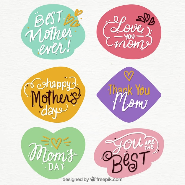 mother 39 s day quote stickers vector free download. Black Bedroom Furniture Sets. Home Design Ideas