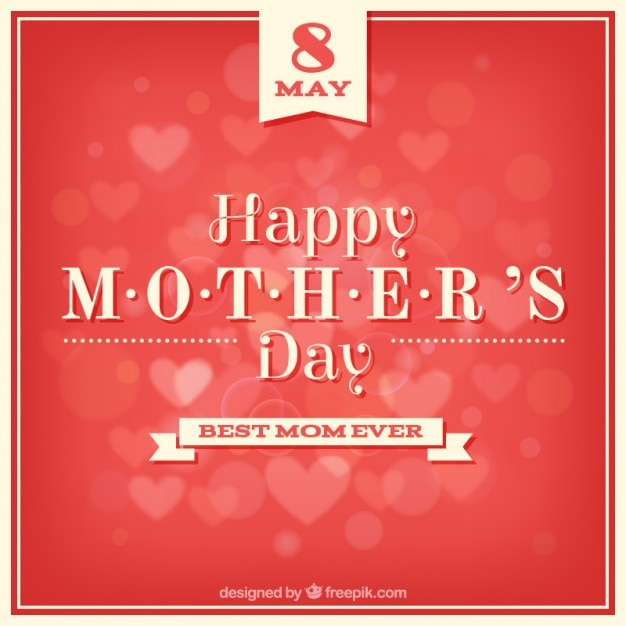Mother\'s day red background