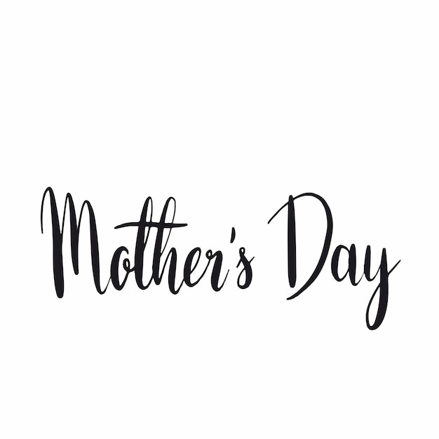 Mother s day typography style vector Free Vector