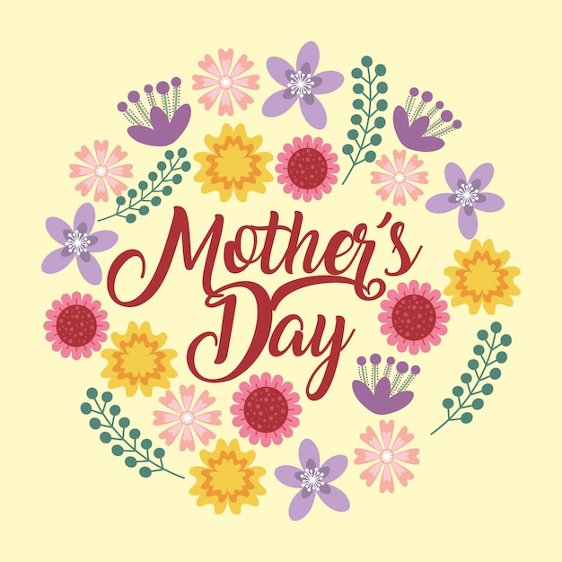 Mothers day card Premium Vector