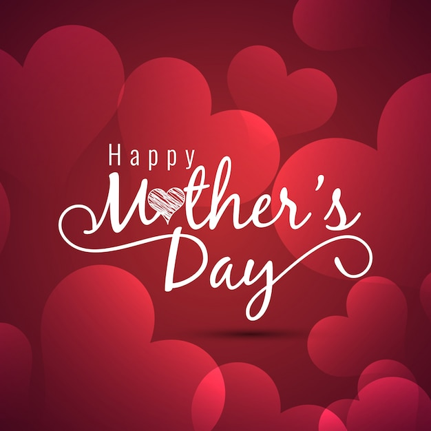 mothers day design with hearts vector free download