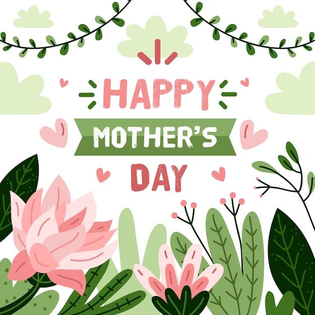 Festa della mamma evento floreale Vettore gratuito