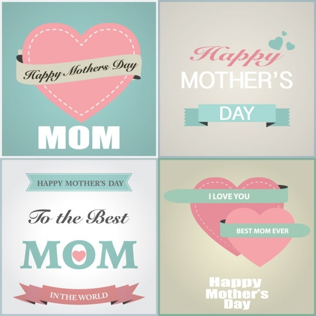 Mothers day greeting card collection