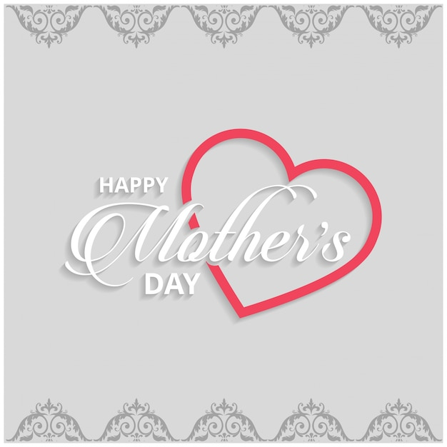 Mothers day lettering on grey background Free Vector