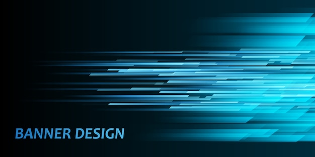 Motion effect banner Free Vector
