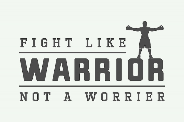 Motivation logo, emblem Premium Vector