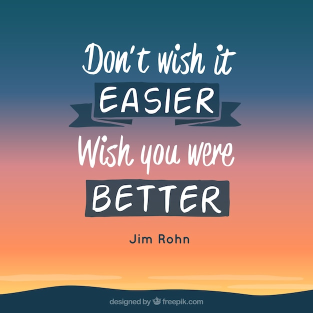 Motivation quote with landscape Free Vector