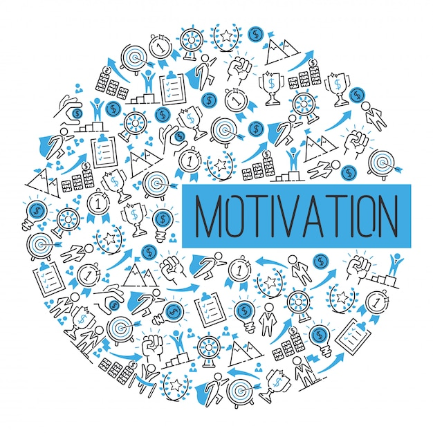 Motivation success motivate concept. creative idea inspiration strong power. metaphor determination strategy. Premium Vector
