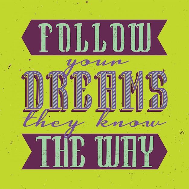 Poster motivazionale. design di citazione ispiratrice. Vettore gratuito