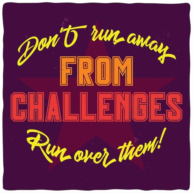 Мотивационный плакат. дизайн вдохновляющих цитат. Бесплатные векторы
