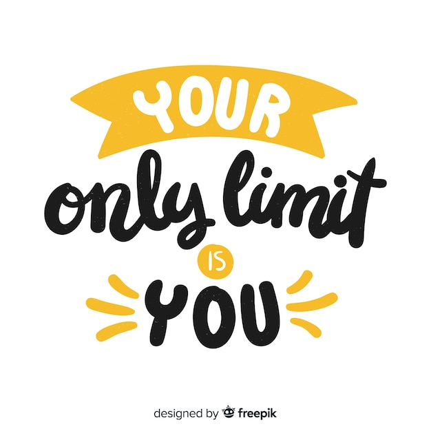 Motivational quote background lettering style Free Vector