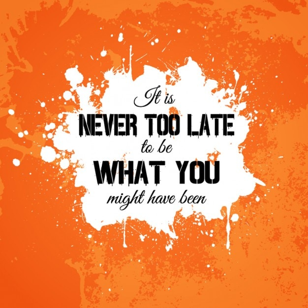 motivational quote in grunge background vector free download