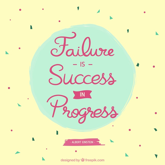 Inspirational Quotes About Failure: Motivational Quote Of Failure Concept Vector