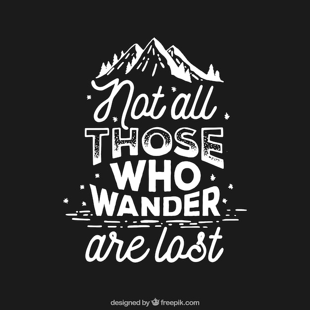 Motivational quote  Free Vector